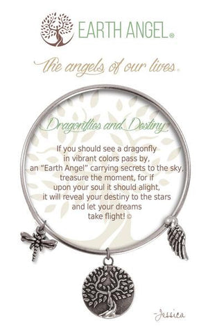 Earth Angel Bracelet - Dragonflies and Destiny