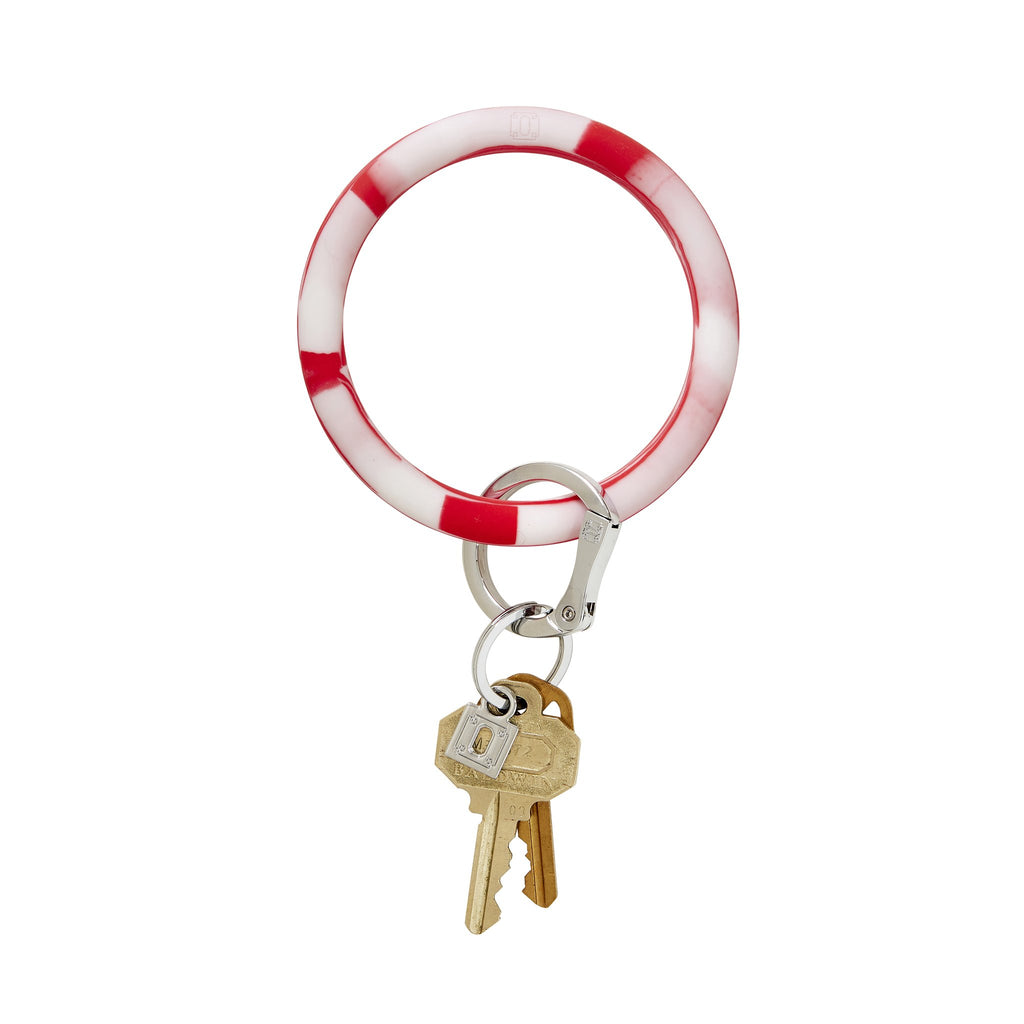 O-Venture - Big O Silicone Keyrings - Cherry on Top Marble