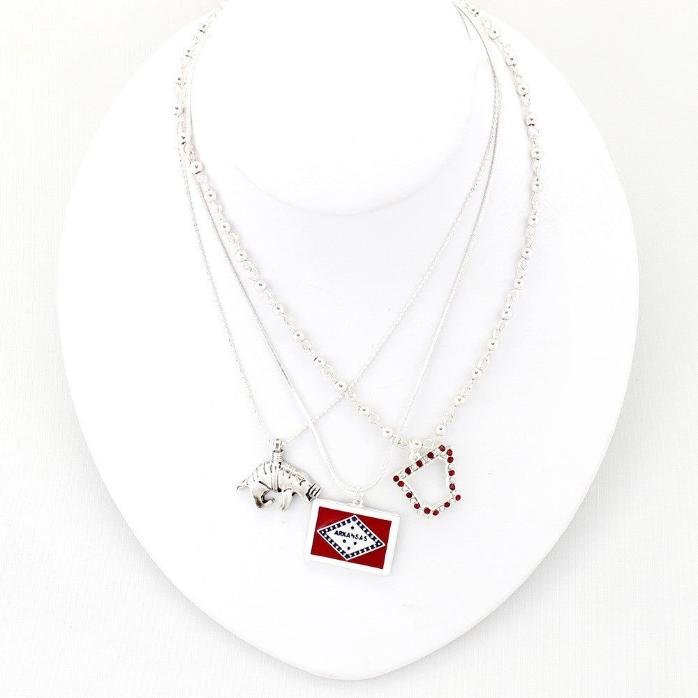 Seasons Jewelry - Arkansas Traditions Trio Necklace