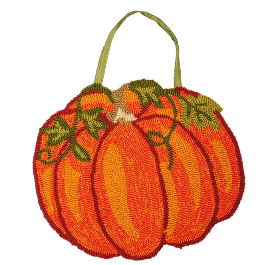 Evergreen - Pumpkin Hooked Door Decor