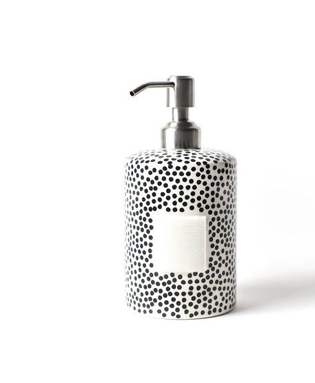 Happy Everything - Black Small Dot Mini Cylinder Soap Pump