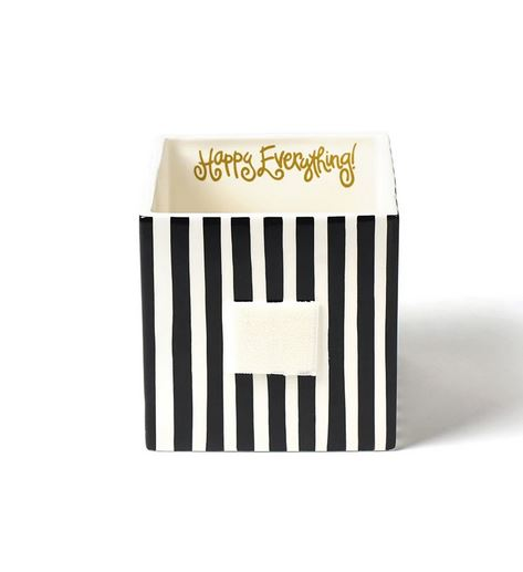 Happy Everything - Black Stripe Medium Mini Nesting Cube