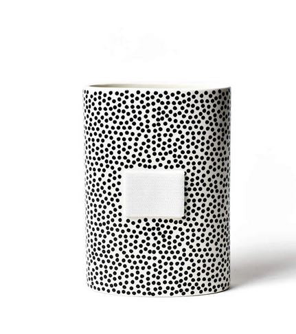 Happy Everything - Black Small Dot Mini Oval Vase