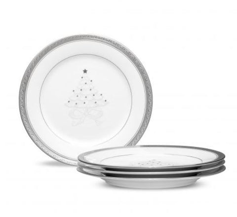 Noritake - Crestwood Platinum Holiday Accent Plate 9""