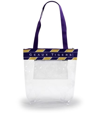 LSU-Zipper Stadium Tote