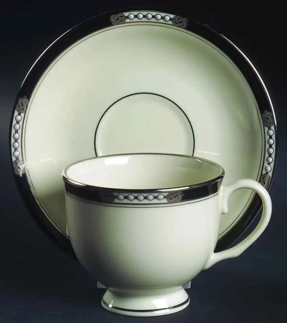Lenox - Hancock Platinum Ivory Cup and Saucer