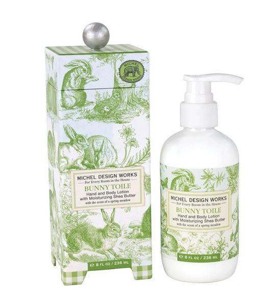 Michel Design Works - Bunny Toile Lotion - Debbie's Hallmark