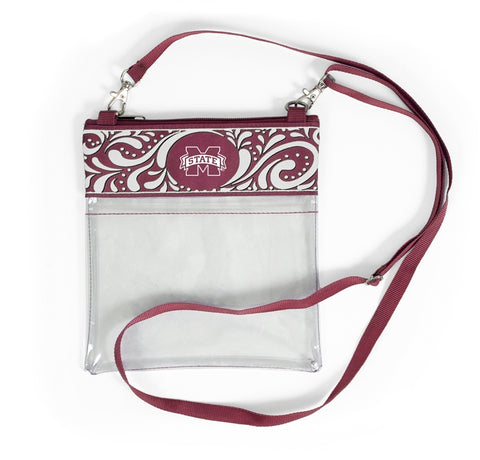 Clear Game Day Crossbody - Mississippi State