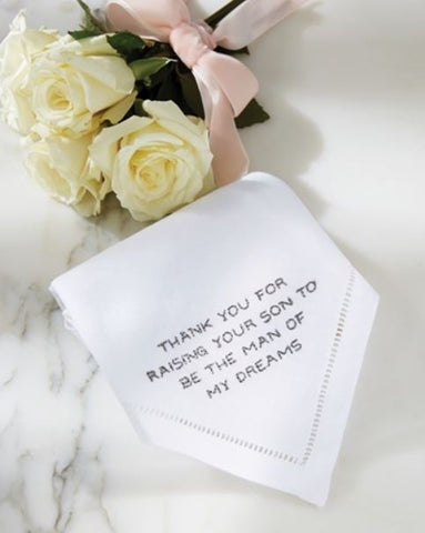 Mud Pie - In-Laws Wedding Handkerchiefs - Debbie's Hallmark