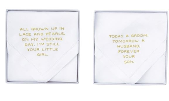 Mud Pie - Parents Wedding Handkerchiefs - Debbie's Hallmark