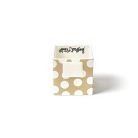 Happy Everything - Neutral Dot Mini Nesting Cube Small