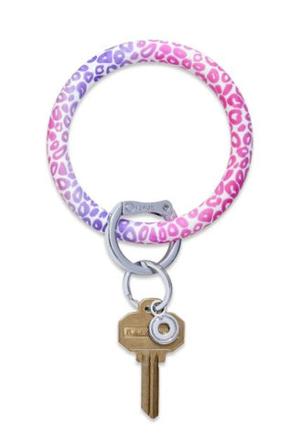 O-Venture - Silicone Big O Key Ring - Pink Cheetah