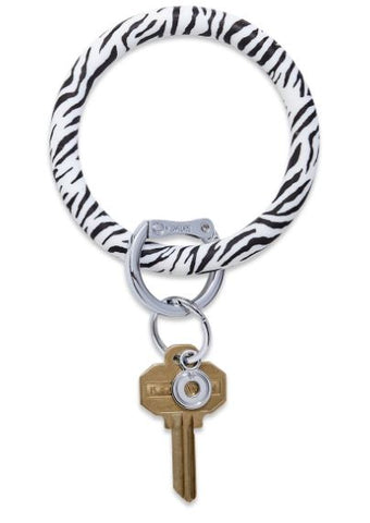 O-Venture - Silicone Big O Key Ring - Zebra