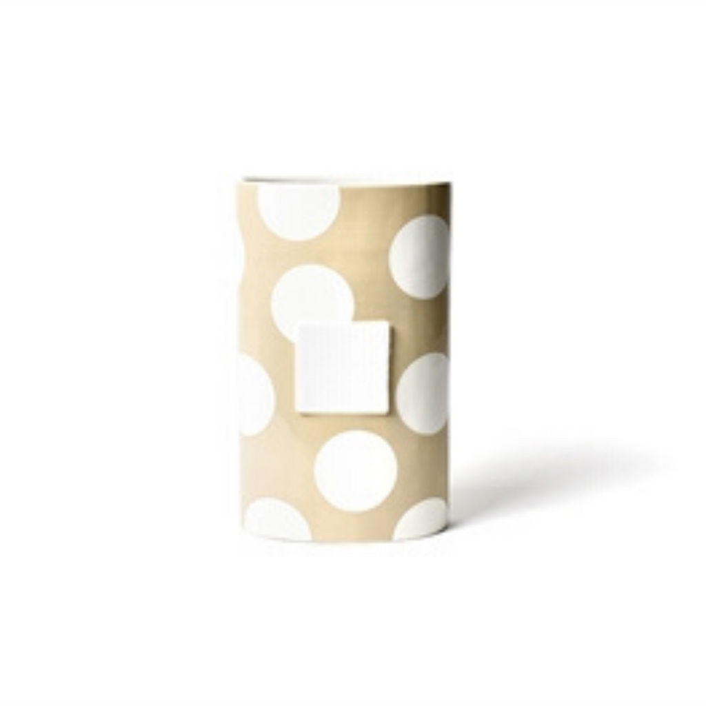 Happy Everything - Neutral Dot Big Oval Vase