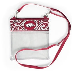 Clear Game Day Crossbody - Arkansas
