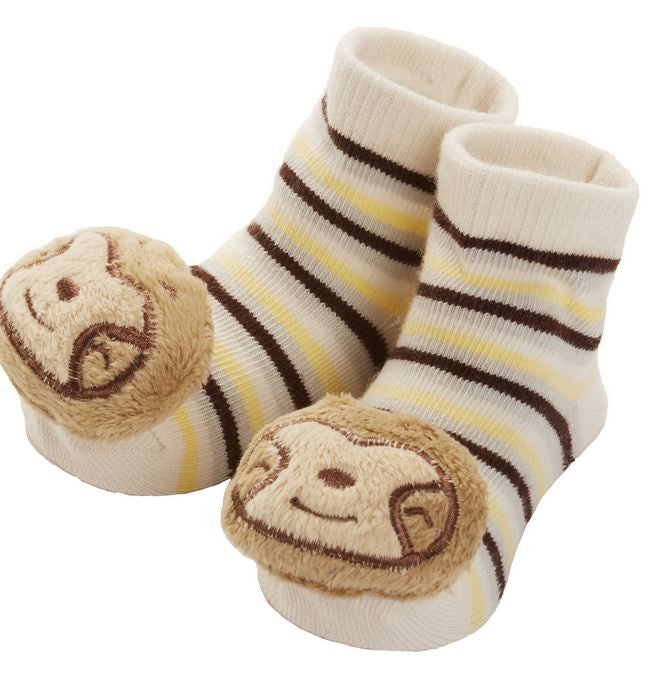 CR Gibson - Rattle Toe Socks - Sloth - Debbie's Hallmark