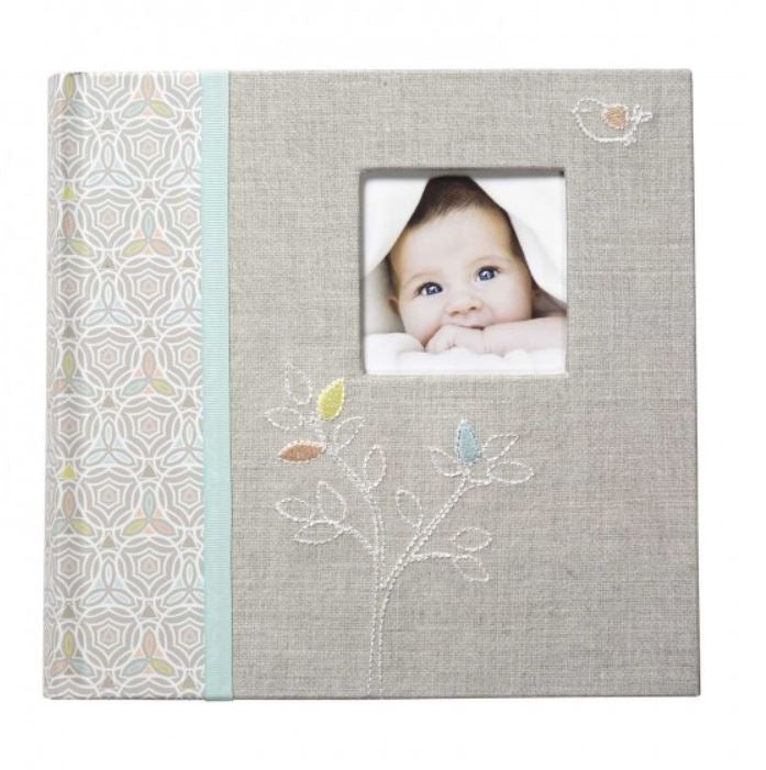 CR Gibson - Slim Bound Photo Journal Album - Linen Tree - Debbie's Hallmark