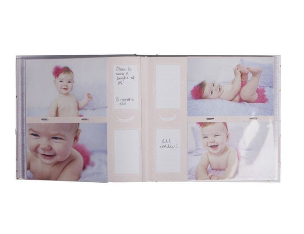 CR Gibson - Slim Bound Photo Journal Album - Sweet Sparkle - Debbie's Hallmark