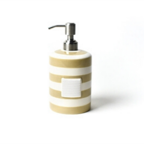 Happy Everything -  Neutral Stripe Mini Cylinder Soap Pump
