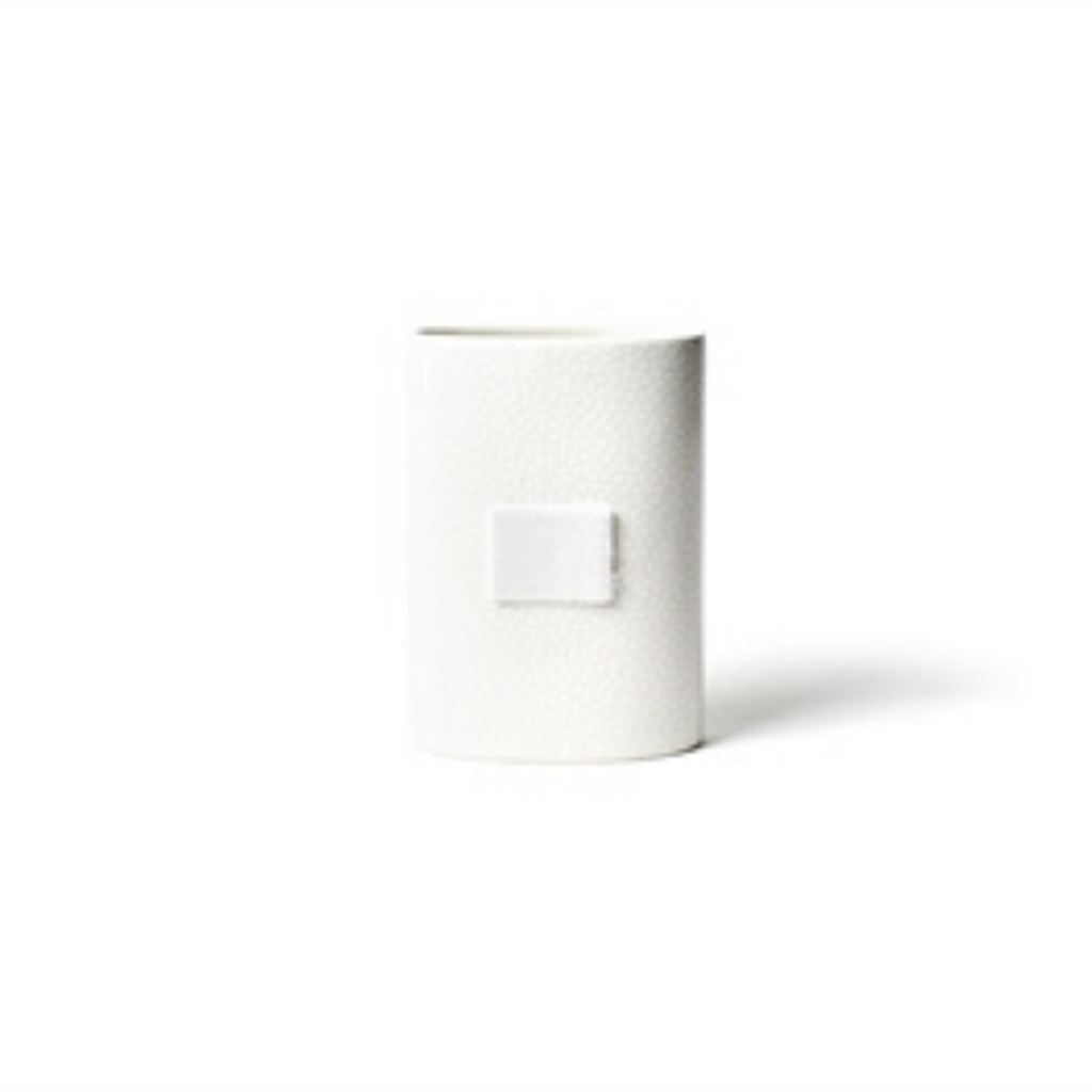 Happy Everything - White Small Dot Mini Oval Vase
