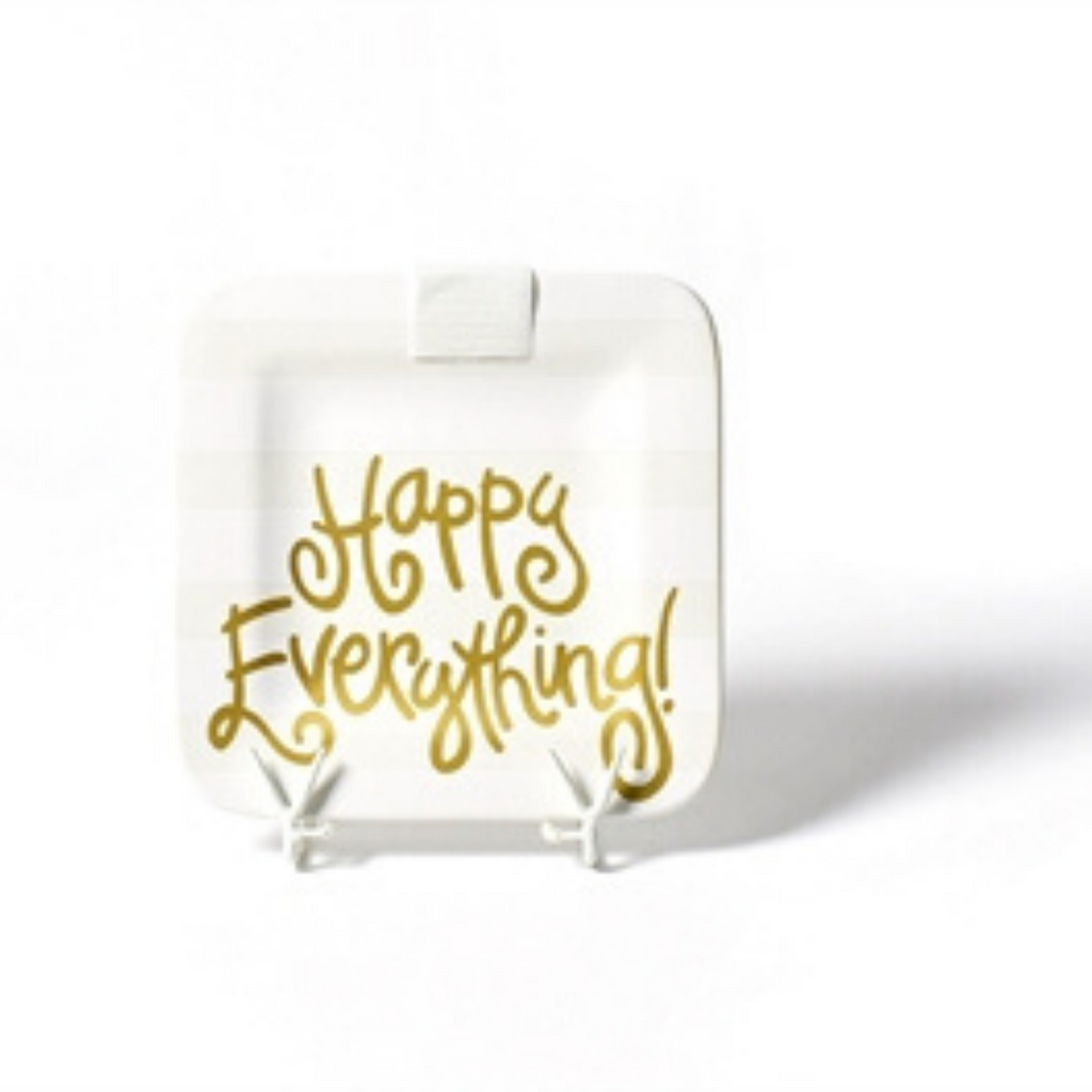 Happy Everything - White Stripe Happy Everything! Mini Square Platter