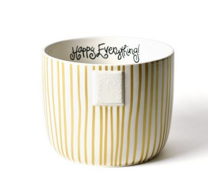 Happy Everything -  Gold Stripe Mini Bowl