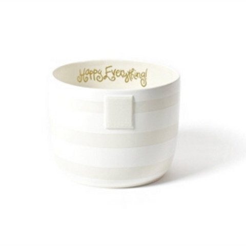 Happy Everything -  White Stripe Mini Bowl