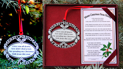 Merry Christmas from Heaven Remembrance Ornament