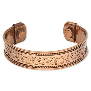 Copper Cuff Bracelet with Cutout Pattern - Yogees