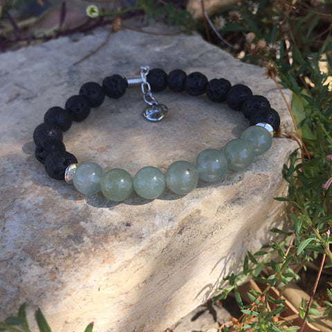 Lava and Green Aventurine Bracelet - Yogees