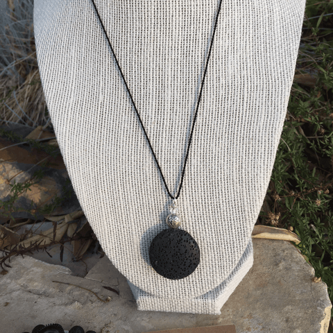 Large Lava Stone Necklace - Yogees