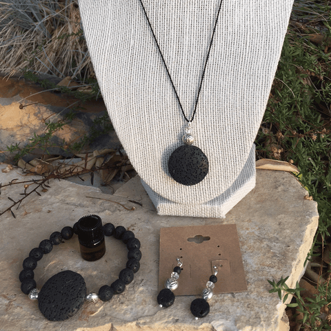 Large Lava Stone Jewelry Set - Yogees