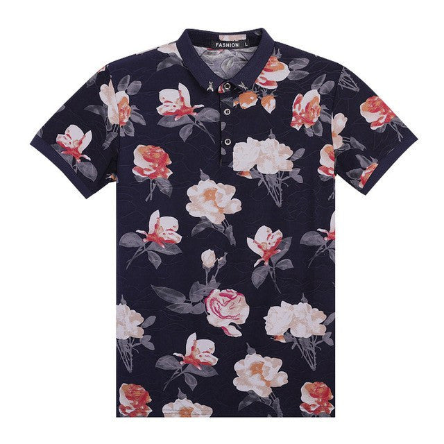 Floral Slim Fit Polo Shirt
