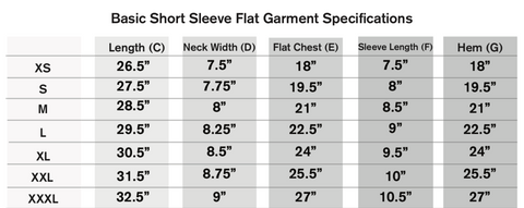 Sizing Charts How Cute Clothing Co