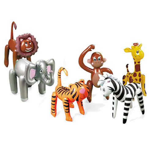 6-pack Inflatable Jungle Safari Zoo Animals