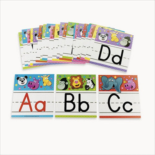 26-piece Set of Zoo Animal Alphabet Letter Wall Cards