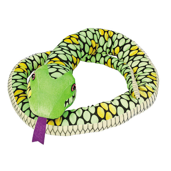 Giant Plush 7 Foot Long Green Monster Snake