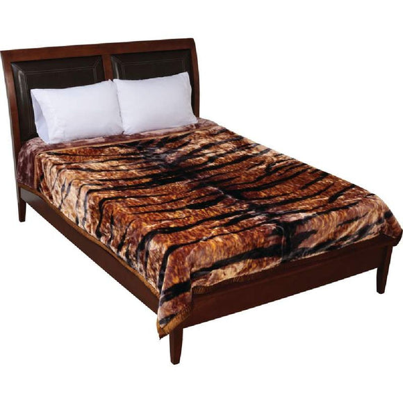 Tiger Print Heavy Luxury Blanket