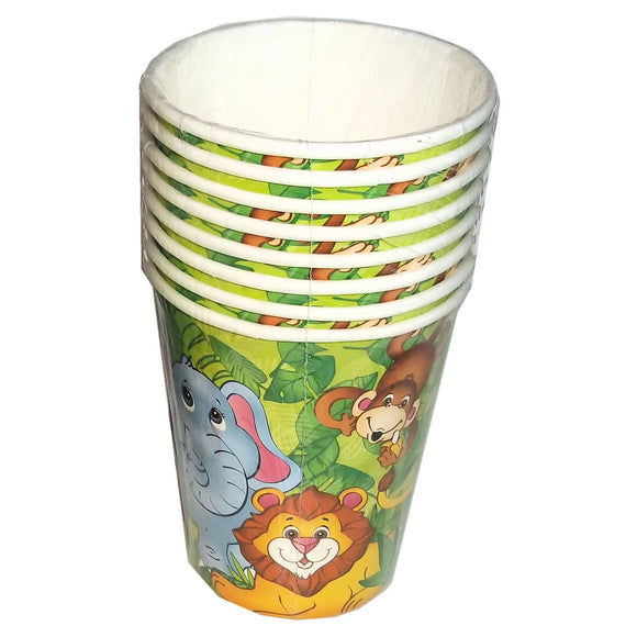 8-Pack Zoo Animal Party Paper Cups