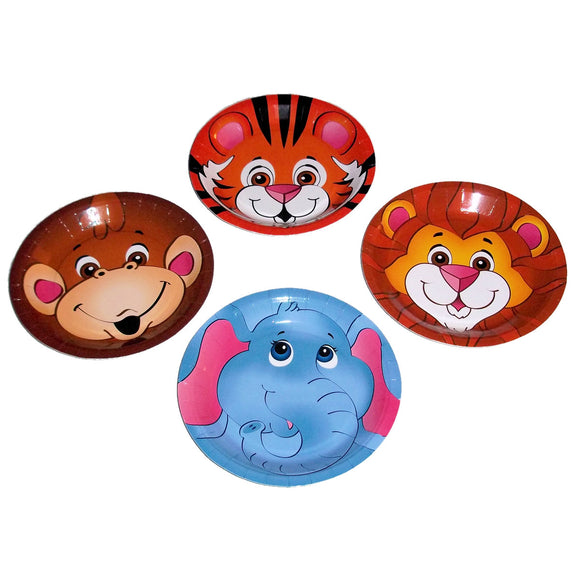 8-Pack Zoo Animal Dessert Plates