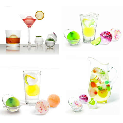 4 Round Spheres Ice Cube Tray Mold