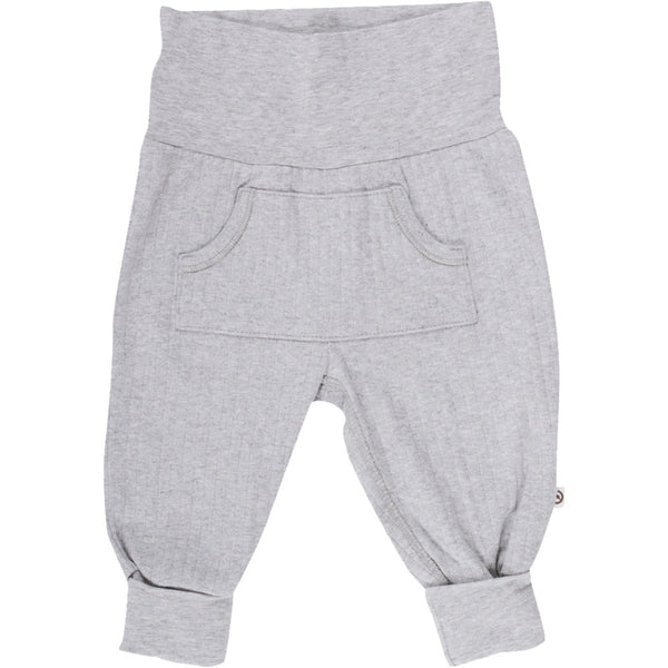Cozy pocket pants - Pale greymarl - Müsli