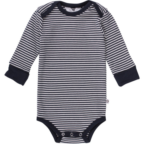 Stripe langærmet body - Navy - Müsli