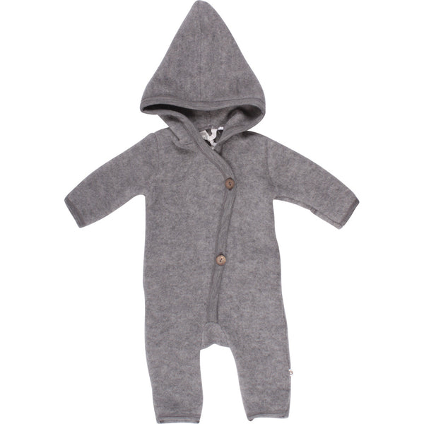 Woolly fleece suit m hue - Pale greymarl - Müsli