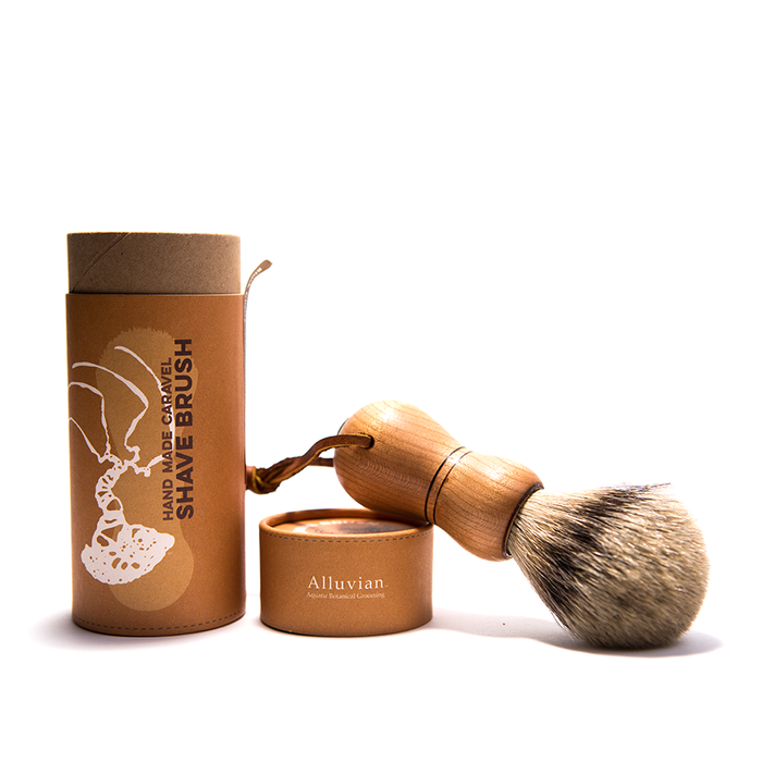 Alluvian - Caraval Tip Badger Shaving Brush - Black Cherry Wood