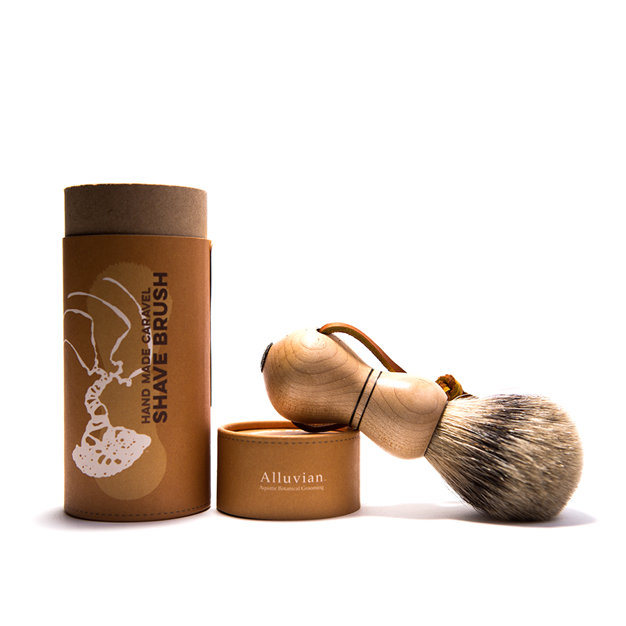 Alluvian - Caraval Tip Badger Shaving Brush - Sugar Maple Wood