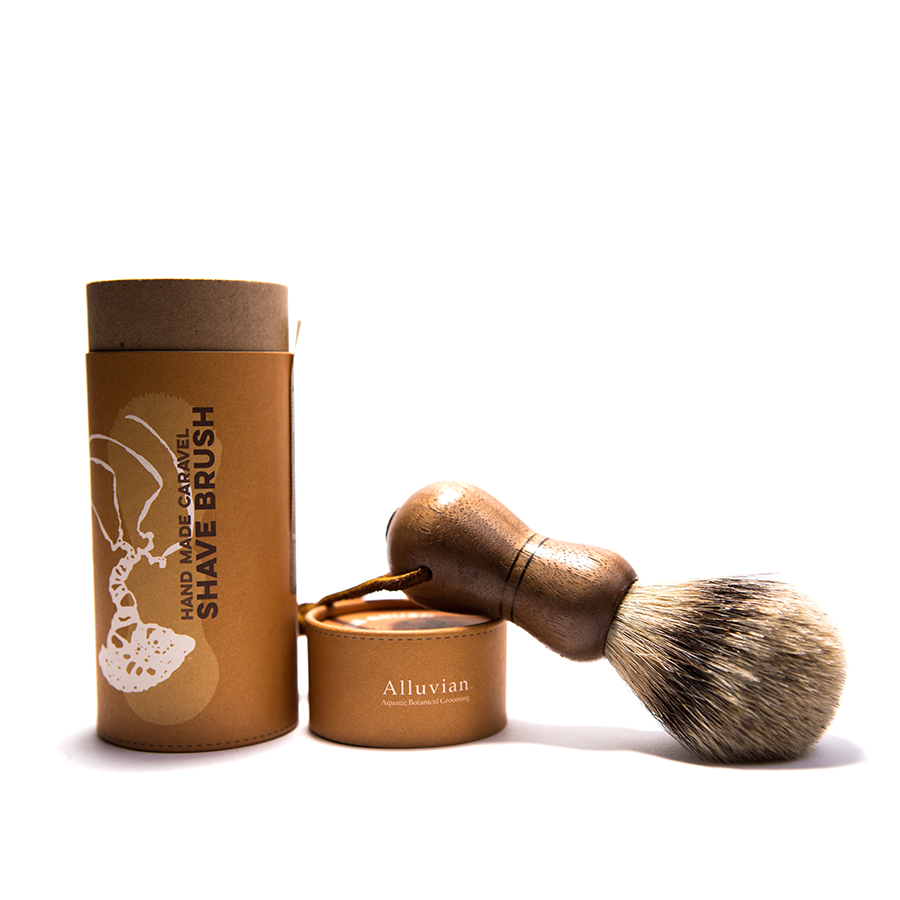 Alluvian - Caraval Tip Badger Shaving Brush - American Walnut Wood