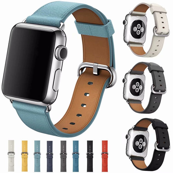 Simple classic leather band for your apple watch