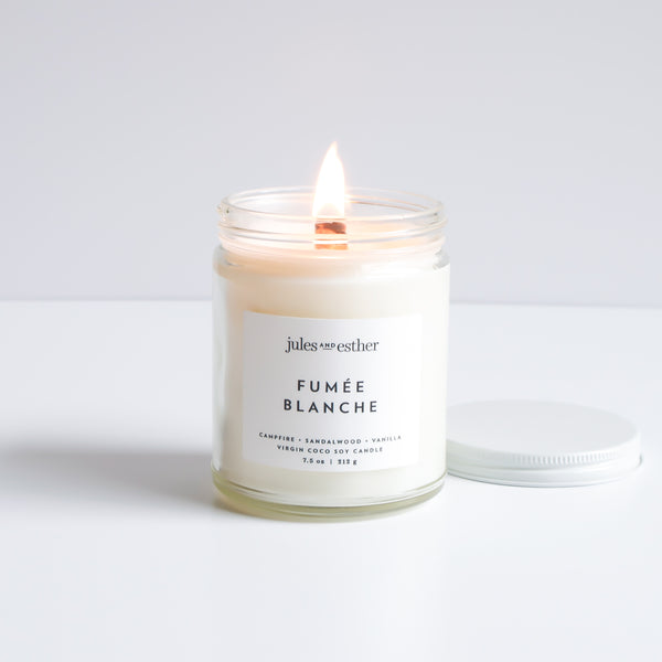 Fumée Blanche: Wooden Wick + Virgin Coco Soy Candle