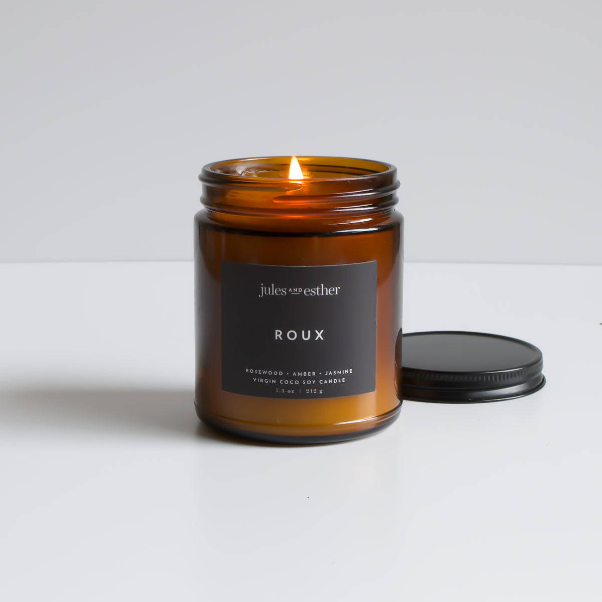 Roux: Wooden Wick + Virgin Coco Soy Candle